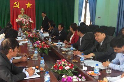Sở Giáo dục và Đào tạo làm việc với Huyện Trà Bồng về công tác giáo dục