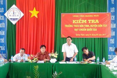 Kiểm tra, thẩm định trường THCS đạt chuẩn quốc gia tại huyện Sơn Tây