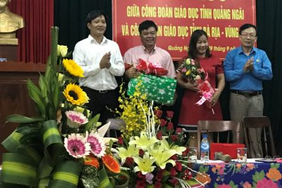 Công đoàn Giáo dục tỉnh Bà Rịa – Vũng Tàu trao đổi kinh nghiệm tại Quảng Ngãi