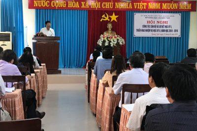 Hội nghị sơ kết học kỳ I, triển khai nhiệm vụ học kỳ II, năm học 2018 – 2019