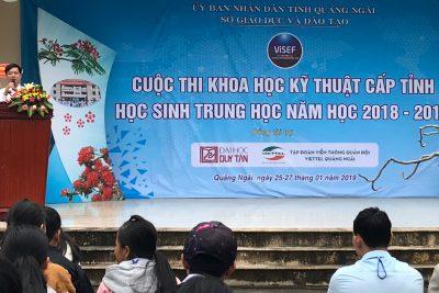 Quảng Ngãi: Tổ chức Cuộc thi Khoa học kỹ thuật cấp tỉnh dành cho học sinh trung học