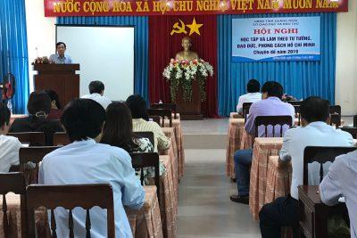 Hội nghị học tập và làm theo tư tưởng, đạo đức, phong cách Hồ Chí Minh năm 2019