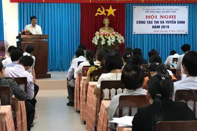 Tổ chức hội nghị công tác thi và tuyển sinh năm 2019