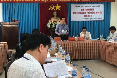 Ban chỉ đạo thi THPT quốc gia tỉnh Quảng Ngãi năm 2019 triển khai nhiệm vụ