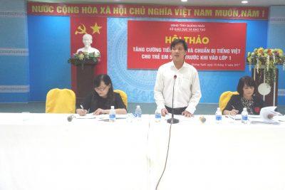 Quảng Ngãi: Hội thảo tăng cường tiếng Việt cho trẻ 5 tuổi trước khi vào lớp 1