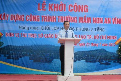Sở Giáo dục và Đào tạo thành phố Hồ Chí Minh – UBND huyện Lý Sơn: Tổ chức Lễ khởi công Công trình Trường mầm non xã An Vĩnh.