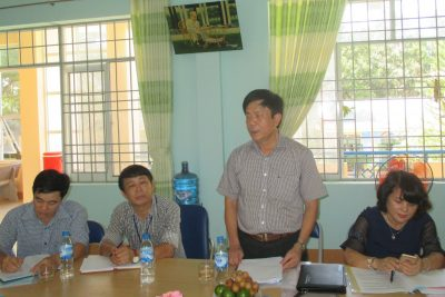 Kiểm tra, thẩm định trường tiểu học đạt chuẩn quốc gia tại huyện Sơn Hà