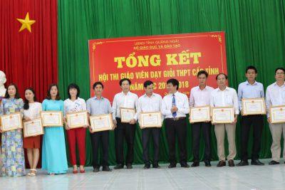 Tổng kết Hội thi giáo viên dạy giỏi trung học phổ thông cấp tỉnh năm học 2017-2018