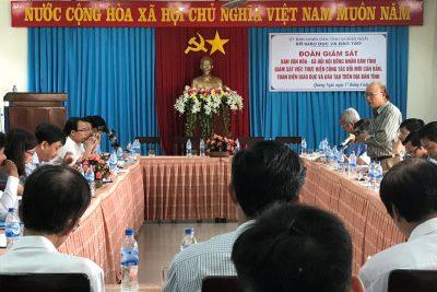 Hội đồng Nhân dân tỉnh giám sát việc thực hiện đổi mới giáo dục và đào tạo
