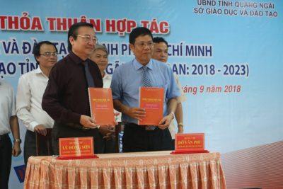 Quảng Ngãi: Ký kết thỏa thuận hợp tác về giáo dục và đào tạo với thành phố Hồ Chí Minh