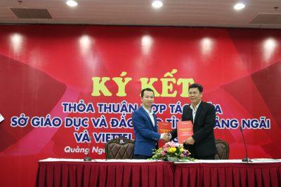 Hội thảo Nghiên cứu Khoa học kỹ thuật và Ký kết hợp tác giữa Sở Giáo dục và Đào tạo – Viettel Quảng Ngãi