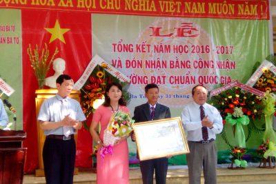 Trường THCS thị trấn Ba Tơ: Tổng kết năm học 2016 – 2017