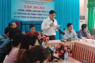 Hội nghị tập huấn phòng, chống thiên tai năm 2017