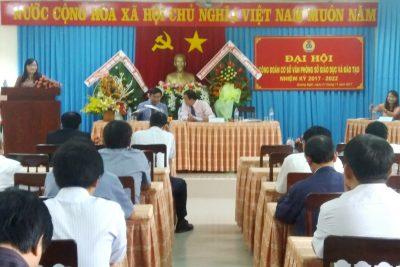 Đại hội Công đoàn cơ sở Văn phòng Sở Giáo dục và Đào tạo tỉnh Quảng Ngãi nhiệm kỳ 2017- 2022