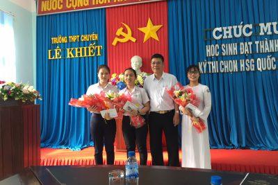 Niềm vui ngày cận Tết: Trường THPT chuyên Lê Khiết đạt 24 giải trong kì thi học sinh giỏi quốc gia năm 2019