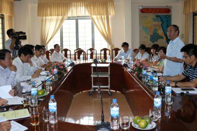 Chánh Thanh tra Bộ Giáo dục và Đào tạo làm việc tại Quảng Ngãi