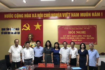 Khối Thi đua Văn hóa – Xã hội ký kết giao ước thi đua năm 2021