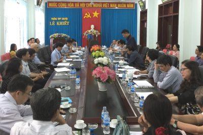 Sở Giáo dục và Đào tạo làm việc với Trường THPT chuyên Lê Khiết