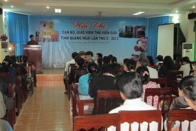 Khai mạc Hội thi Cán bộ, Giáo viên Thư viện giỏi tỉnh Quảng Ngãi lần thứ II-2013