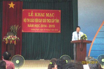Khai mạc Hội thi giáo viên dạy giỏi trung học cơ sở cấp tỉnh năm học 2014-2015