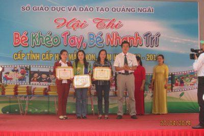 Tổng kết Hội thi Bé khéo tay, Bé nhanh trí cấp tỉnh Năm học 2013-2014