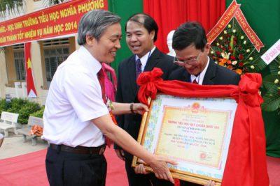 Trường tiểu học Nghĩa Phương: Đón nhận danh hiệu trường đạt chuẩn quốc gia và Khai giảng năm học mới 2014-2015