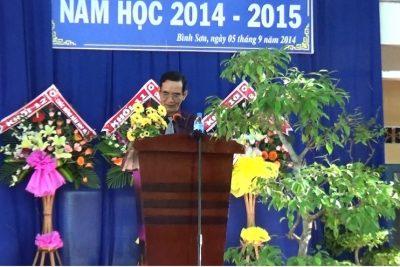 Trường THPT Bình Sơn Khai gảng năm học 2014-2015
