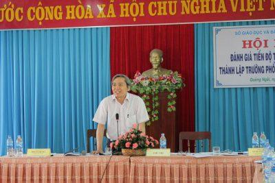 Hội nghị đánh giá tiến độ thành lập trường Phổ thông Dân tộc bán trú trên địa bàn tỉnh