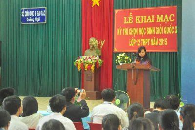 Khai mạc kỳ thi chọn Học sinh giỏi quốc gia lớp 12 năm 2015
