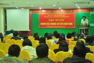 Tổ chức tập huấn đánh giá ngoài đối với cơ sở giáo dục