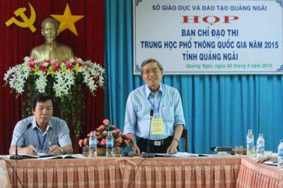 Quảng Ngãi: Họp bàn công tác chuẩn bị thi THPT Quốc gia năm 2015