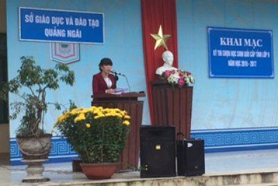 Sở Giáo dục và Đào tạo Quảng Ngãi: Tổ chức kỳ thi chọn học sinh giỏi cấp tỉnh lớp 9 năm học 2016 – 2017