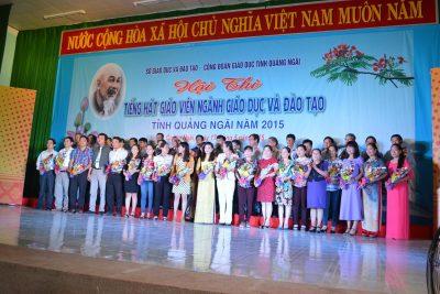 Ngành Giáo dục và Đào tạo Tổ chức Hội thi Tiếng hát giáo viên năm 2015