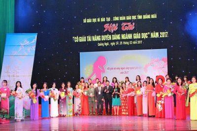 Ngành Giáo dục tỉnh Quảng Ngãi: Tổ chức Hội thi Cô giáo tài năng duyên dáng năm 2017