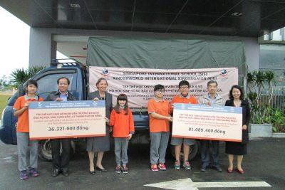 Hỗ trợ học sinh vùng lũ tỉnh Quảng Ngãi