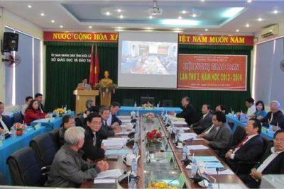 Hội nghị giao ban trực tuyến Vùng thi đua số 4 lần thứ nhất năm học 2013-2014