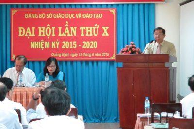 Đại hội Đảng bộ Sở Giáo dục và Đào tạo lần thứ X, nhiệm kỳ 2015-2020