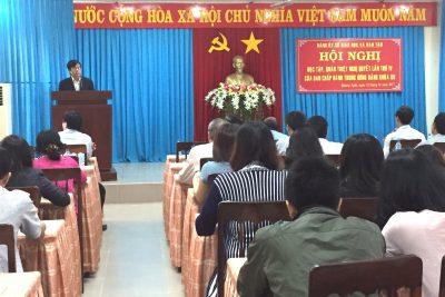 Sở Giáo dục và Đào tạo Quảng Ngãi tổ chức học tập quán triệt Nghị quyết Hội nghị lần thứ 4 Ban Chấp hành Trung ương Đảng khóa XII