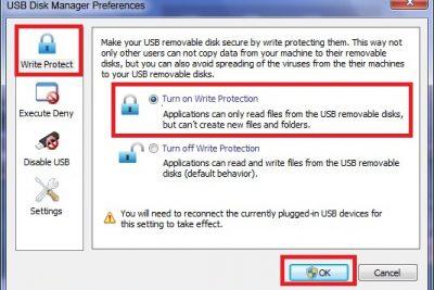 USB Disk Manager – quản lý truy cập, phòng chống virus USB