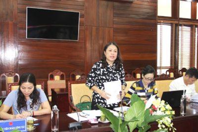 Vụ Pháp chế – Bộ Giáo dục và Đào tạo làm việc tại Ủy ban nhân dân tỉnh