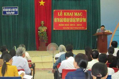 Quảng Ngãi tổ chức Hội thi giáo viên dạy giỏi trung học phổ thông cấp tỉnh năm học 2013-2014