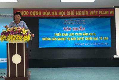 Hội nghị triển khai tập huấn Luật Phòng, chống tham nhũng