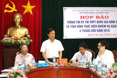 Họp báo thông tin về kỳ thi THPT quốc gia năm 2018 tại Quảng Ngãi